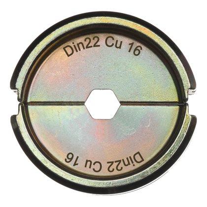 DIN22 Cu 16 - 1 pc - Crimping dies DIN Copper