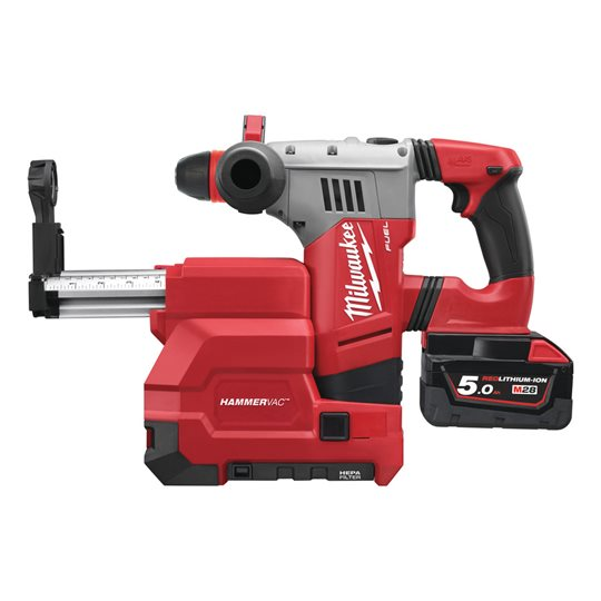 M28 CHPXDE-502C - M28 FUEL™ 4-mode SDS-plus hammer with FIXTEC chuck and dedicated dust extractor
