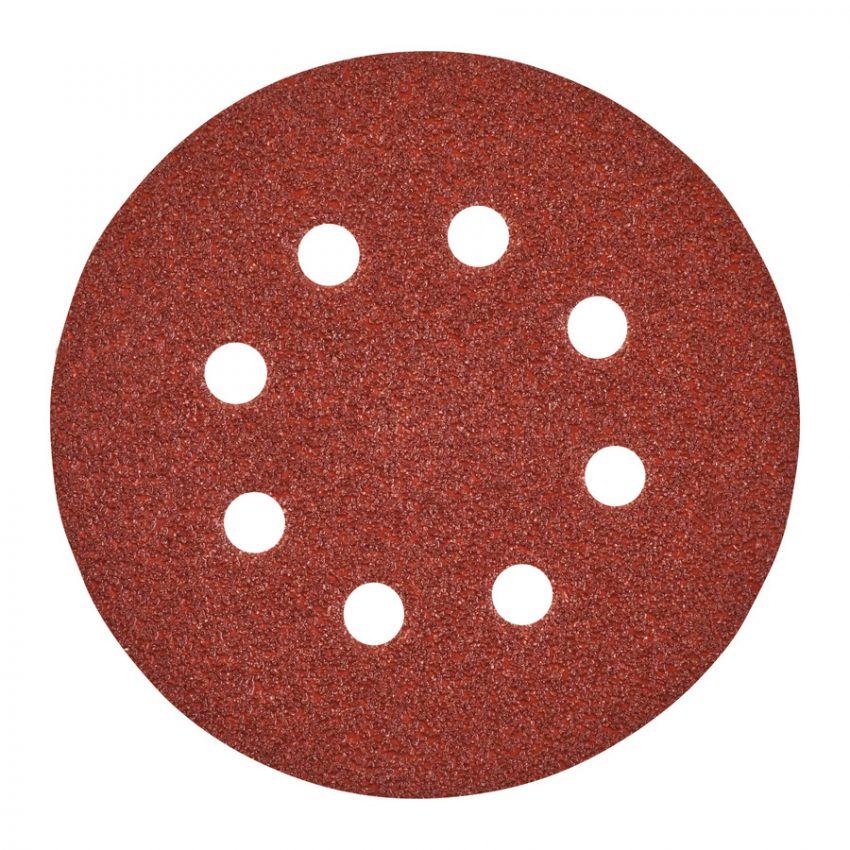 125 mm H and L GR 40 - 5 pcs - Sanding sheets for random orbital sanders ø 125 mm - 8 holes