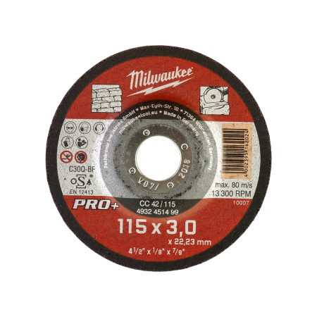 CC 42 - 115 x 3 x 22 mm - 25 pcs - Stone cutting discs PRO+