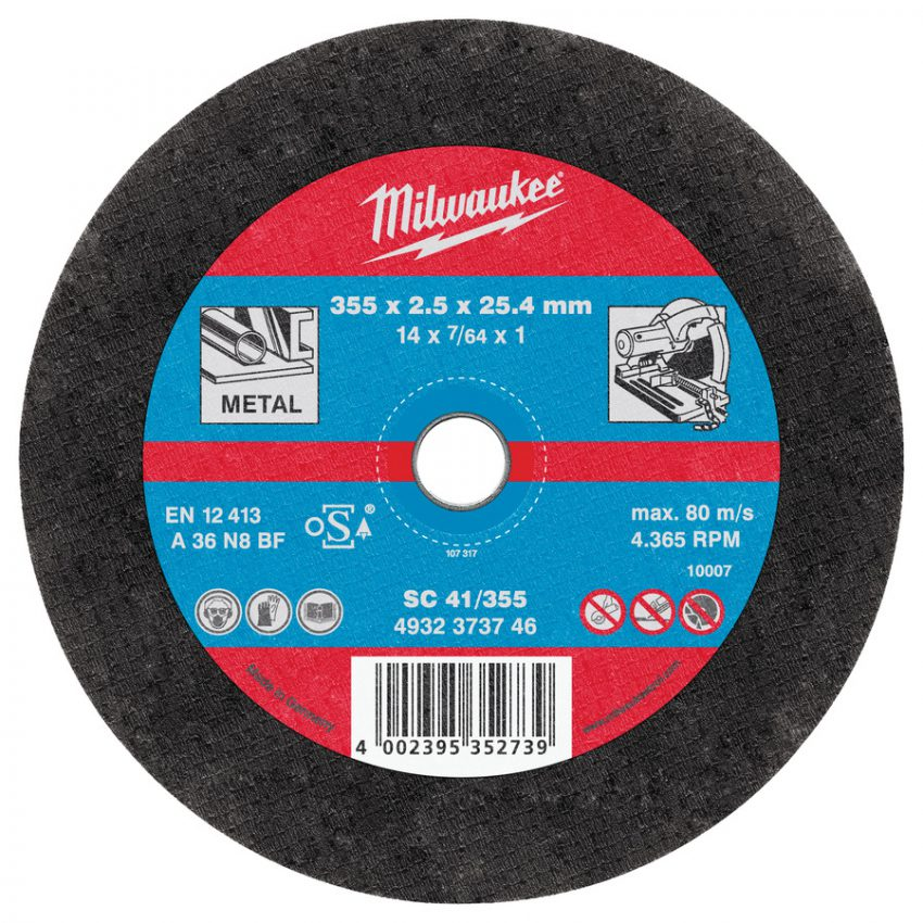 SC 41 - 355 x 2.5 x 25 mm - 10 pcs - Metal cutting discs for chop saws PRO+