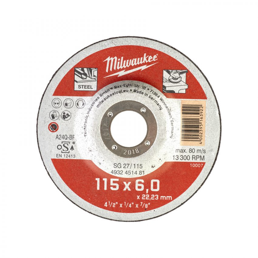 SG 27 - 115 x 6 x 22 mm Contractor series - 25 pcs - Metal grinding discs - contractor series